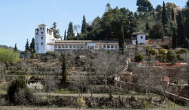 White house in Granada Royalty Free Stock Image