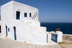 White house in the Greek paradise in Sifnos Stock Image