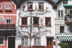 White house in Hallstatt