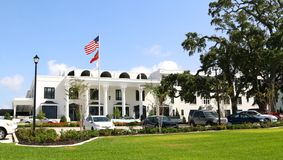 The White House Hotel, Gulfport, MS. The White house is a very elegant five-star hotel and resort located along the beach front in Gulfport, Mississippi Stock Images
