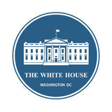 White house icon. White house building icon in Washington DC Stock Photo