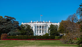 The White House and Lawn at the Nations Capital Stock Photo