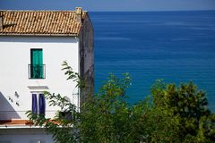 White House Looking Out over the Ocean in Italy Stock Photo
