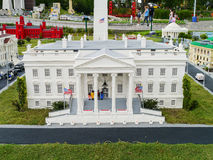White House Made from Legos at Legoland Florida Le. This model of the President of the United States residential home, the White House is made from thousands of Royalty Free Stock Photo