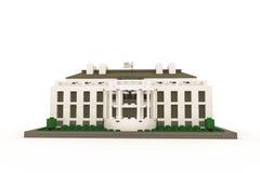 White House made of plastic bricks Royalty Free Stock Image