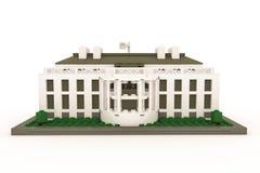 White House made of plastic bricks Stock Image