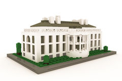 White House made of plastic bricks Royalty Free Stock Photography