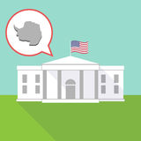 The White House with  the map of  Antarctica Stock Image