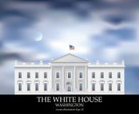 White House Moon Royalty Free Stock Photos