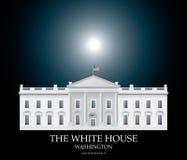 White House Moonlight Stock Photo