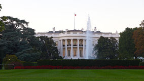 The White House in the National Mall, Washington DC. White House on white sky background in the dusk Royalty Free Stock Photos