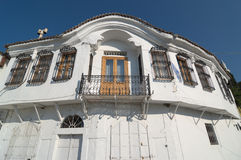 White House Neoclassical. In old village of Xanthi, Greece royalty free stock image