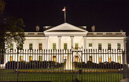 White House Night Pennsylvania Ave Washington DC Royalty Free Stock Image