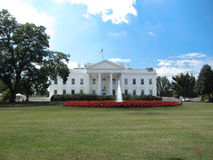 White House. North Portico and lawn Stock Images