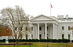 White House, official residence and workplace of President of United States. It is located at 1600 Pennsylvania Avenue NW in Washington, D.C. and has been stock photo