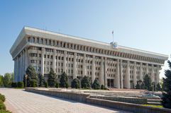 White House - Parliament Building. BISHKEK, KYRGYZSTAN - MAY 02, 2014:  White House - Parliament Building. Bishkek formerly  Frunze, is the capital and the Stock Photography