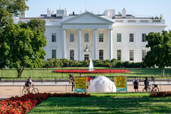The White House Peace Vigil in Washington D.C. WASHINGTON D.C.,USA - AUGUST 11,2016 : The White House Peace Vigil protesting against nuclear weapons Royalty Free Stock Photography