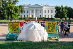 The White House Peace Vigil in Washington D.C. WASHINGTON D.C.,USA - AUGUST 11,2016 : The White House Peace Vigil protesting against nuclear weapons Stock Photography