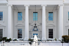 White House Portico in Winter Stock Image