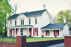 White House Red Shutters royalty free stock images
