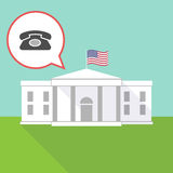 The White House with  a retro telephone sign Royalty Free Stock Photography