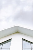 White house roof and windows Stock Images