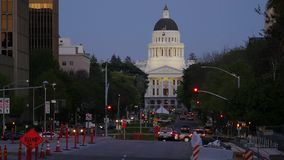 White House in Sacramento stock footage