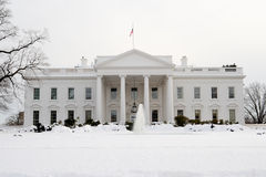 White House in Snow Royalty Free Stock Photography