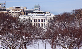 White House After Snow Washington DC Royalty Free Stock Images