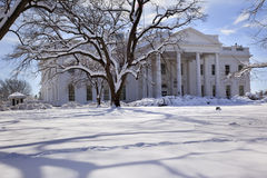 White House Snow Washington DC Royalty Free Stock Photos