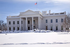 White House Snow Washington DC Stock Images