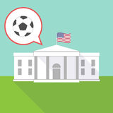 The White House with  a soccer ball Stock Photo