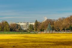 White House South Lawn, National Christmas Tree Washington DC. stock photography