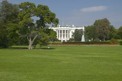 The White House South Lawn with Truman Balcony, Washington D.C. Royalty Free Stock Photos