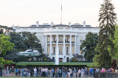White House South Lawn with VH-3D Sea King Helicopter Stock Photo