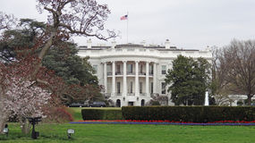 White House, South Portico. View of the White House across the south lawn Royalty Free Stock Image
