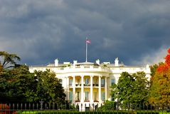 White House during storm Royalty Free Stock Photo
