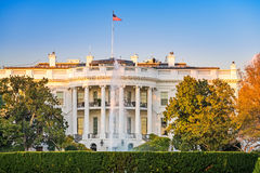 The White House at sunset Stock Photo