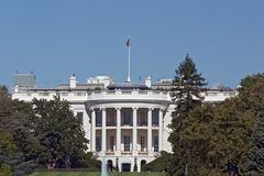 The White House: Telescopic View Stock Photo