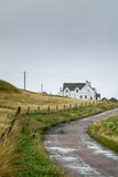 White house. There is a house in the scotland island of Iona Royalty Free Stock Photos