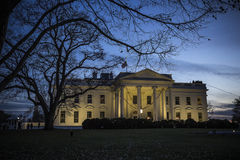 The white house in twilight Stock Images