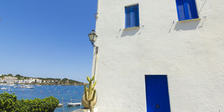White house, typical of the Mediterranean, Costa Brava, Catalonia, Spain Stock Images