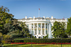 The White House under Clear Sky. The White House in Washington DC under Blue Sky on a Sunny Autumn Day Stock Image