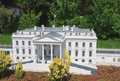 The White House, USA.Klagenfurt. Miniature Park Royalty Free Stock Photography