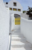 White House in the Village of Pyrgos Stock Photos