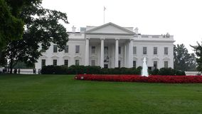 White House. The White House was perfect by itself but the fountain added the perfect touch royalty free stock photos