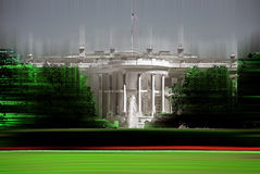 White House, Washington D:C:, graphically abstract digitally manipulated Stock Photos