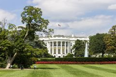 The White House. Washington, D.C. The southern facade of the White House, official residence and workplace of the President of the United States, with a semi royalty free stock photos