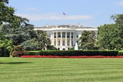 White House USA. White House in Washington D.C. United States national landmark stock photo