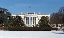 White House, Washington DC. This is the White House in Washington DC on a Winter day Stock Photos